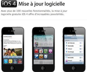 Mise à jour iPhone iOS 4