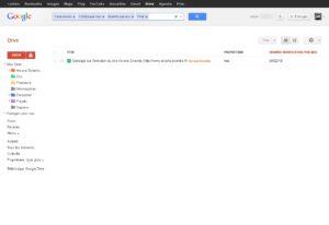 Menu de filtre avancé sur Google Drive
