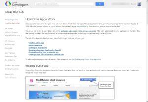 Site de documentation de l'API Google Drive